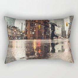 RAIN - WET - MAN - LIGHT - STREET - PHOTOGRAPHY Rectangular Pillow