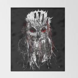 OWL - RED EYE Throw Blanket
