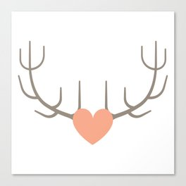 The Love of Antlers Canvas Print