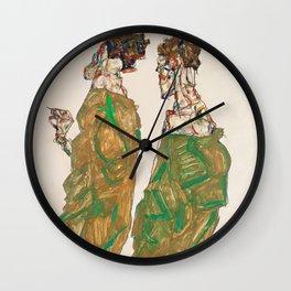 """Egon Schiele """"Devotion"""" Wall Clock"""