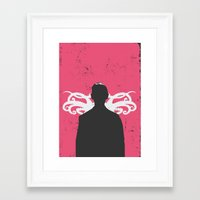 lovecraft Framed Art Prints featuring Lovecraft by Nicolas Beaujouan