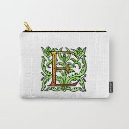 Monogram Alphabet Letter Design 'E' Carry-All Pouch