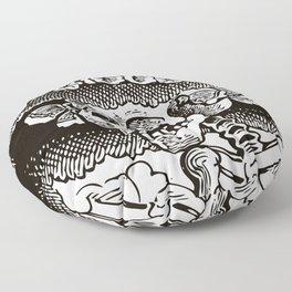 Calavera Catrina | Skeleton Woman | Black and White | Floor Pillow