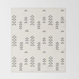 Minimalist Triangle Line Drawing Throw Blanket