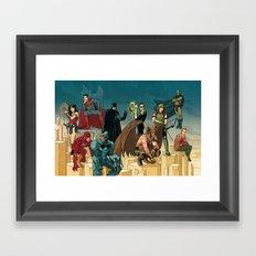 Justice League Framed Art Print