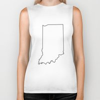 indiana Biker Tanks featuring Indiana by mrTidwell