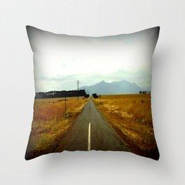 Road to Dunkeld Throw Pillow