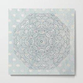 Mandalas with a beautiful flower Metal Print