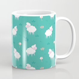 Calm sheep pattern Coffee Mug