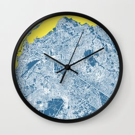 LUANDA Map Print - Angola   Blue More Colors, Review My Collections Wall Clock