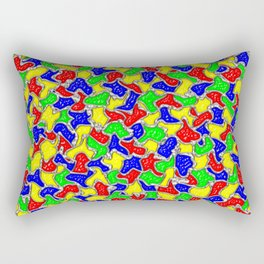 Stained Glass Mosaic Tiles Pattern Rectangular Pillow