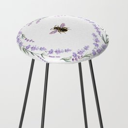 Lavender Bee Counter Stool