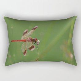 Red Dragonfly Rectangular Pillow
