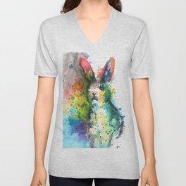 Bunny Splash Unisex V-Neck