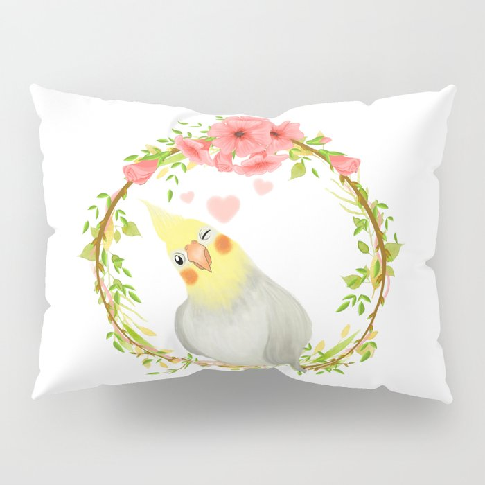 With Love From The Sweetest Cockatiel Pillow Sham
