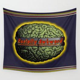 The Socially Awkward Brain Wall Tapestry