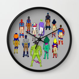Superhero Butts - Power Couple Wall Clock