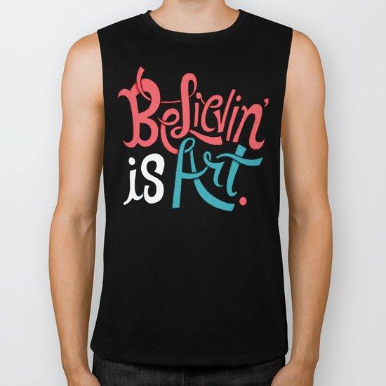 Believing is Art Biker Tank