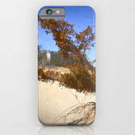 Beach view of Lighthouse iPhone Case