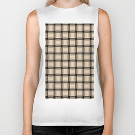 Bisque Brown Weave Biker Tank