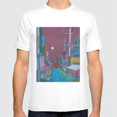 Seoul City #2 MEDIUM White Mens Fitted Tee
