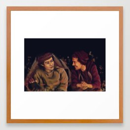 Larry Stylinson - This is Us Campfire Framed Art Print