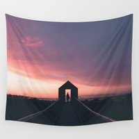 doors Wall Tapestries featuring Open Doors - Alviso, CA by roelvista