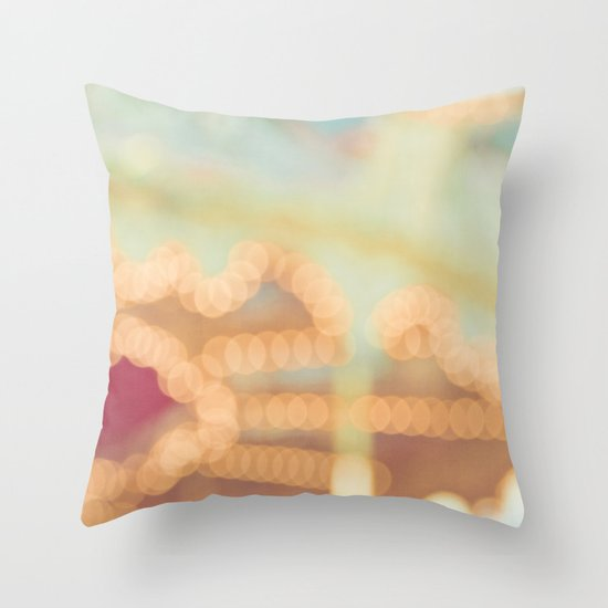 Carousel Dreams Throw Pillow
