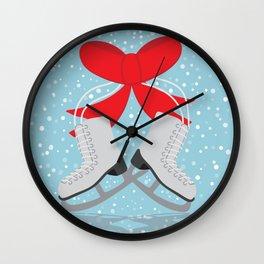 Winter Skates Wall Clock