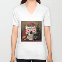 flora V-neck T-shirts featuring Flora by SugarSugar