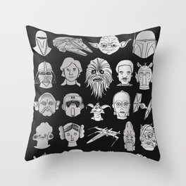 The force is strong Throw Pillow