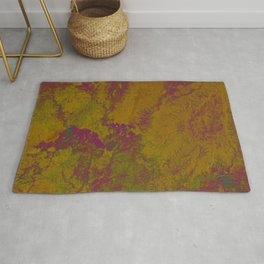 Geography Art of India - Golden Purple  Rug