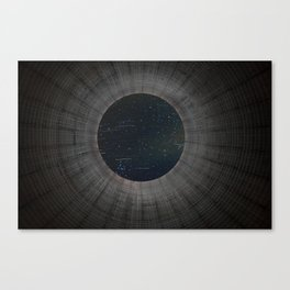 Looking up a Nuclear Cooling Tower Canvas Print