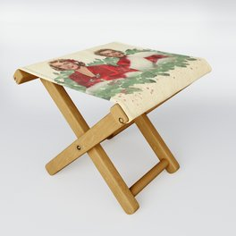 Sisters - A Merry White Christmas Folding Stool