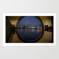 View from my boat hostel, Amsterdam. Art Print