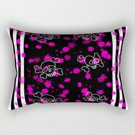 Pink Skull Rectangular Pillow