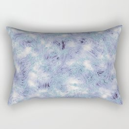 Blue and Purple Marble Swirl Texture Rectangular Pillow