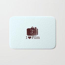 I ♥ Film (Maroon/Aqua) Bath Mat