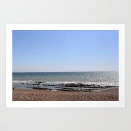 Brighton beach. Art Print