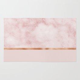 Silvec rosa on rose gold blush Rug