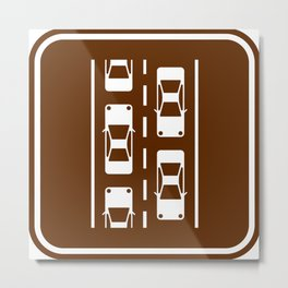 "Urban Pictograms ""Commuter"" Metal Print"