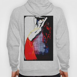 Lady In Red Hoody