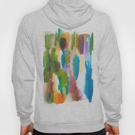 180812 Abstract Watercolour Expressionism 10   Colorful Abstract   Modern Watercolor Art Hoody