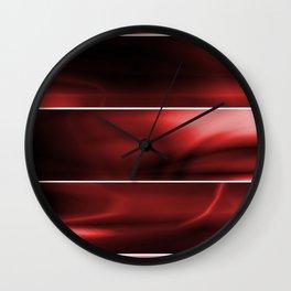 Red Plasma Storm (Five Panels Series) Wall Clock