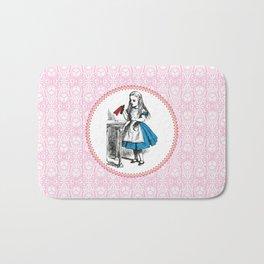 Alice in Wonderland | Drink Me Bottle | Pink Damask Pattern | Bath Mat