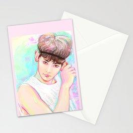 Pastel Glitter Stationery Cards