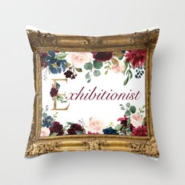 Exhibitionist II Throw Pillow