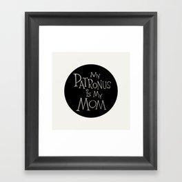 My Patronus is My Mom Framed Art Print