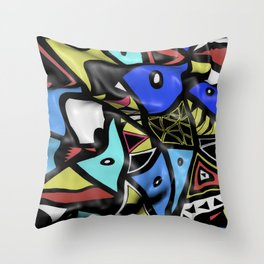 Urban Renaissance 3D Throw Pillow