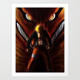 Naruto Kyuubi Art Print
